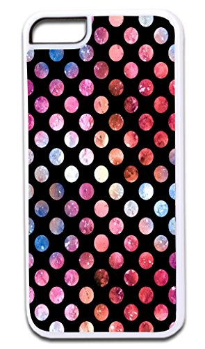 Watercolor Polka Dots Print Design TM Apple Iphone 4, 4s White Plastic Case Made in the U.S.A.