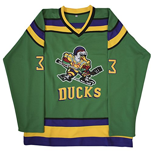 (MOLPE Greg Goldberg 33 'Mighty Ducks Movie' Jersey S-XXXL Green (L))