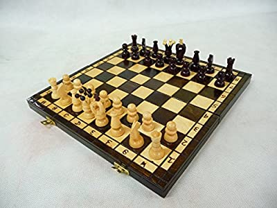 Medium Royal, Wooden Chess set, brown color