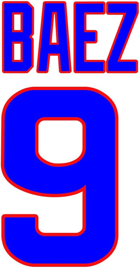 Javier Baez Chicago Cubs Jersey Number Kit, Authentic Home Jersey Any Name or Number Available