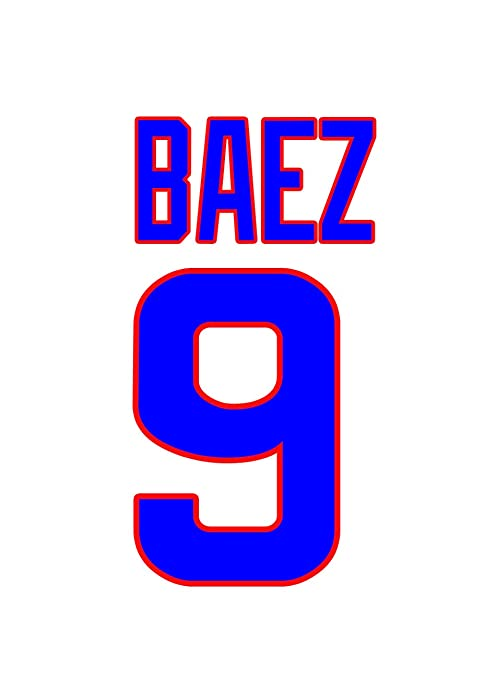 huge selection of 3b4bc 64108 Javier Baez Chicago Cubs Jersey Number Kit, Authentic Home ...