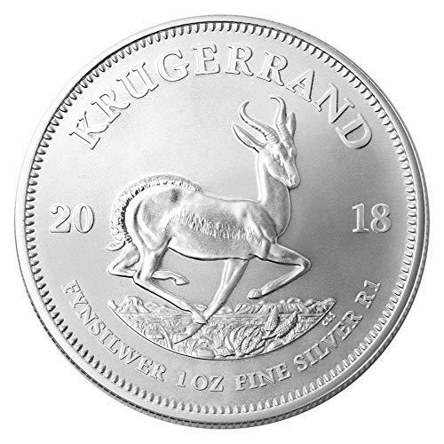 2018 ZA South African Krugerrand 1 Troy Oz Silver Bullion 1 Rand Brilliant Uncirculated ()