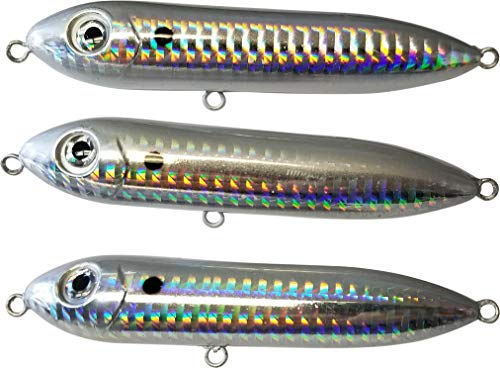 Catfish Rattling Line Float Lure for Catfishing, Demon Dragon Style Peg for Santee Rig Fishing, 4 inch (3-Pack, Threadfin Shad) (Best Lures For Catfish)