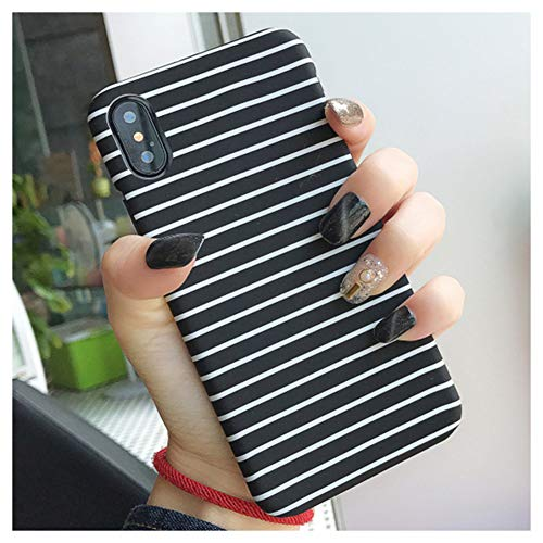 Mixneer for iPhone 6 Plus/6s Plus Case Simple Black White Grid Lattice Phone Cases Hard PC Matte Cover Zebra Stripes Triangle for Apple iPhone 6 Plus/6s Plus - Style 3