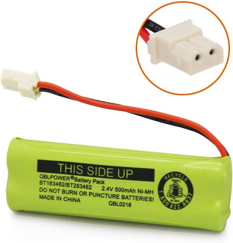 2 Pack QBLPOWER BT183482//BT283482 Phone Battery Compatible with Vtech DS6401 DS6421 DS6422 DS6472 LS6405 LS6425 LS6426 LS6475 LS6476 89-1348-01-00 Cordless Phone Handset