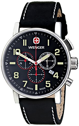 Wenger Men's Attitude Chrono Watch with Leather Strap