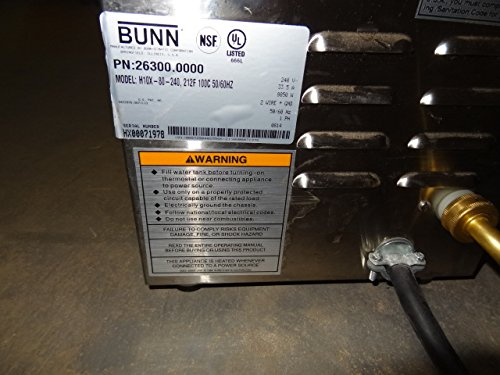 Bunn (26300.0001) - 10 gal Hot Water Dispenser (212°F) 208V - H10X-80-208 by BUNN (Image #8)