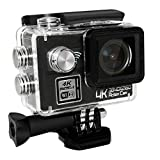 ANTIEE 4K WIFI Sports Action Camera Ultra HD Waterproof DV Camcorder 12MP 170 Degree Wide Angle 2 Inch LCD Screen Black Action Cameras ANTIEE