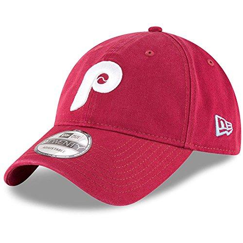 New Era Authentic Philladelphia Phillies Cooperstown Maroon Core Classic Team Color 9TWENTY Adjustable Hat