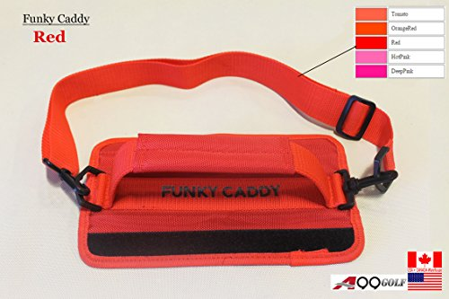 A99 Golf C12 Funky Caddy Golf Bag Driving Range Carrier Sleeve Light with velcro Red by A99 Golf (Image #1)