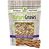 Nature Gnaws Braided Bully Sticks 5-6 inch (5 Count) - 100% Natural Grass-Fed Premium Beef Dog Chews
