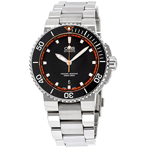 Oris Aquis Black Dial Stainless Steel Men's Watch 73376534128MB