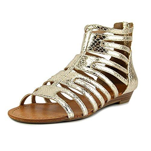 Nine West SunRaySol1 Women US 10 Gold Gladiator (Nine West Gladiator Sandals)