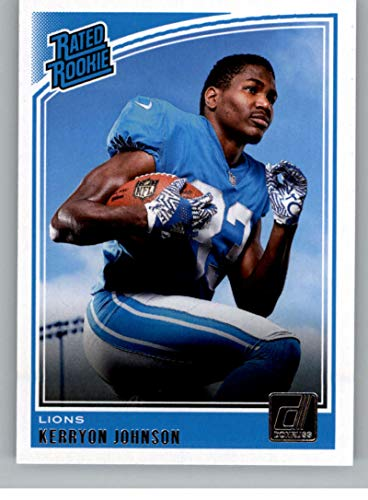 2018 Donruss Football #320 Kerryon Johnson RC Rookie Card Detroit Lions Rated Rookie Official NFL Trading Card ()