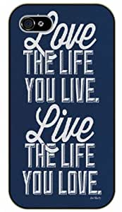 iPhone 6 Bob Marley Quotes - Love the life you live, live the life you love - black plastic case / Inspirational and Motivational