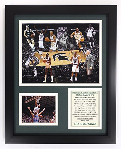 Legends Never Die NCAA Michigan State Spartans Basketball Greats Double Matted Photo Frame, 12