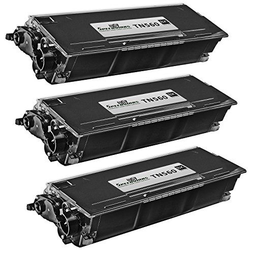 SpeedyInks 3PK Compatible Brother TN560 High Yield Black Laser Toner Cartridge for use in DCP-8020, DCP-8025D, DCP-8025DN, HL-1650, HL-1650LT, HL-1650N, HL-1650N Plus, HL-1670n, HL-1670NLT (Tn560 Toner Compatible)