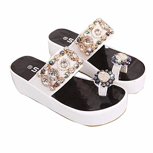de Sandales D'Été Shoes Ladies White La Mousse YUCH Antiglisse Plage q1vHHP