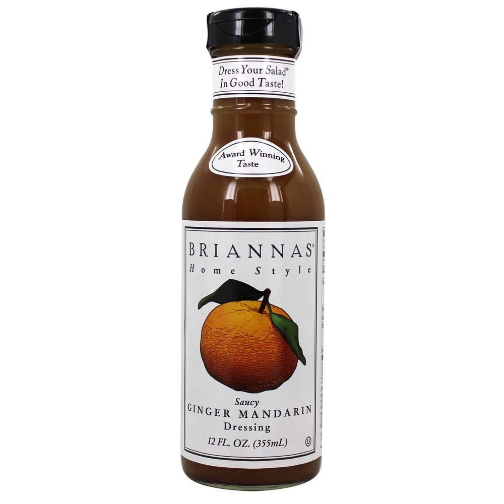 BRIANNAS Dressing, Mandarin Ginger, 12 Ounce (Pack of 6)
