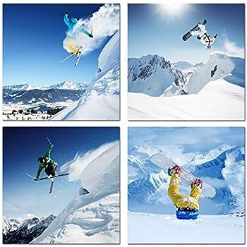 Amazon.com: Live Art Decor - Ski Sport Canvas Wall Art, Snow ...