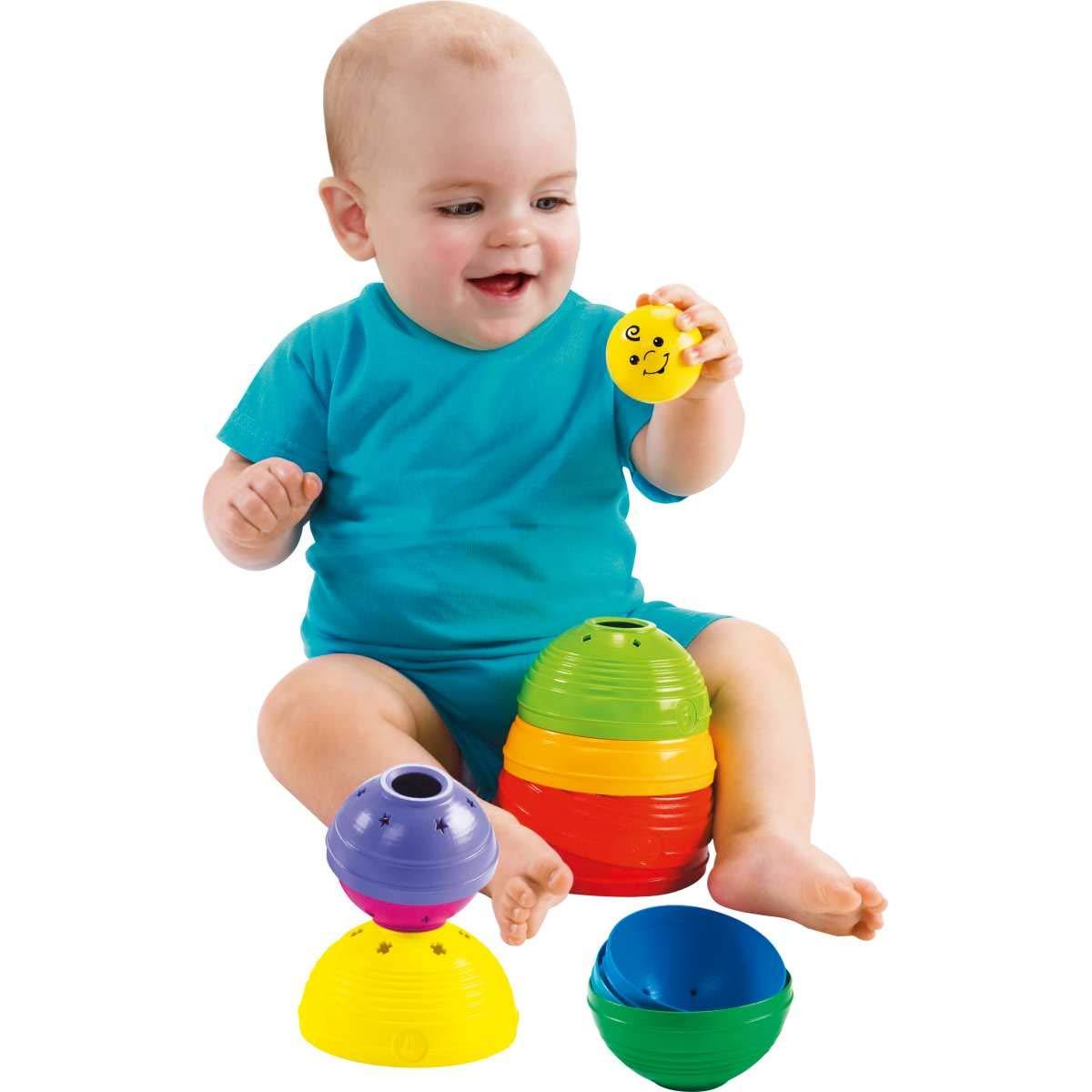 Brilliant Basics Stack und Roll Cups Spielkugel-Pyramide Mattel Fisher-Price W4472