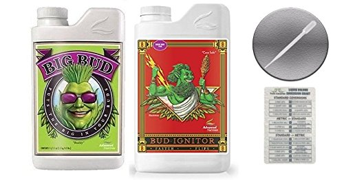 Advanced Nutrients Big Bud and Bud Ignitor 1 Liter with Conversion Chart and 3ml Pipette-1 Liter by Advanced Nutrients