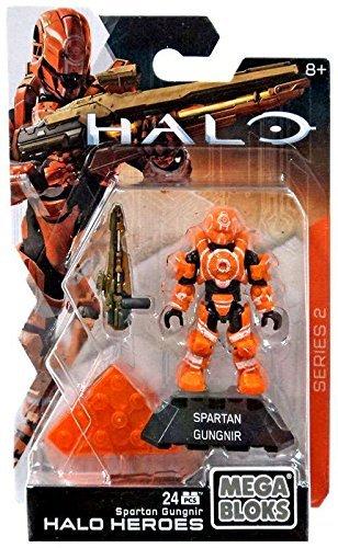 Mega Bloks Halo Heroes Series 2 Spartan Gungnir Mega CONSTRUX.