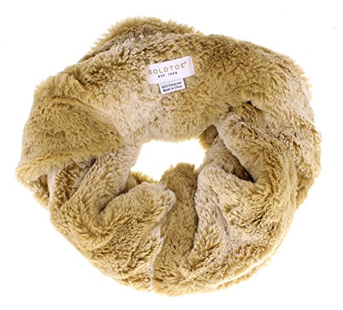 nna Soft Faux Fur Circle Scarf Tan (Gold Snood)