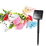 Solar Powered Butterfly LED String Light Waterproof 12 LED Animal Design Multi-Color Fiber Optic Butterfly Decorative Lights for Home Patio Garden Tree and Outdoor Decoration 8 Modes Dragonfly Shaped