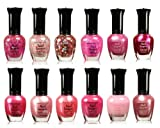 Nail Polish for Babies Kleancolor Collection - Awesome Pink Colors Assorted Nail Polish 12pc Set