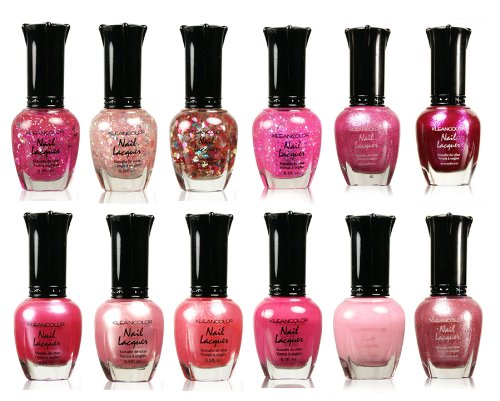 Kleancolor Collection - Awesome Pink Colors Assorted Nail Polish 12pc Set ()