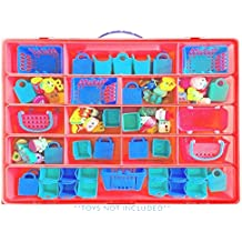 Shopkins Case, Toy Storage Carrying Box. Figures Playset Organizer. Accessories For Kids by LMB
