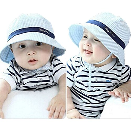 Usstore Cute Kids Baby sun Hat Cotton Headwear Cap (Blue) (Jack In The Box Costume Head)