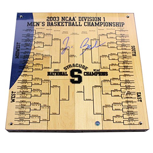 - Jim Boeheim Signed Syracuse Basketball Engraved 12x12 Bracket
