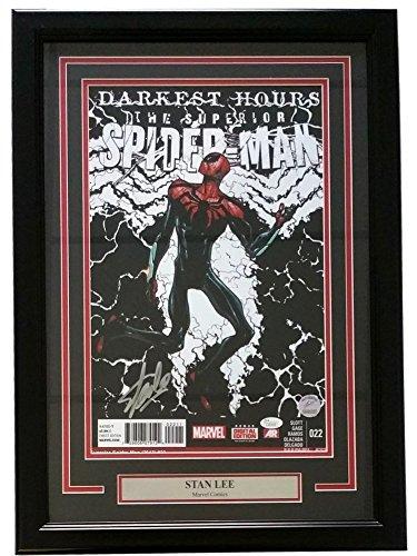 Stan Lee Marvel Autographed Framed 11x17 Darkest Hours Spider-Man Photo JSA - Certified Authentic