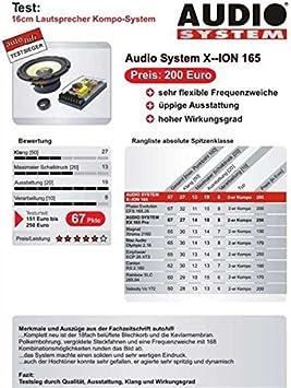 Audio System X Ion 165 Koaxiallautsprecher Für Auto 100 W Schwarz Und Gelb