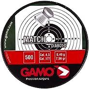 Gamo Flat Nose .177 Caliber Match Pellets, Tin of 500