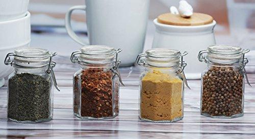(Circleware 67182 Set of 4-4oz Mini Optic Hermetic Spice Jar Home and Kitchen Utensils, 4)