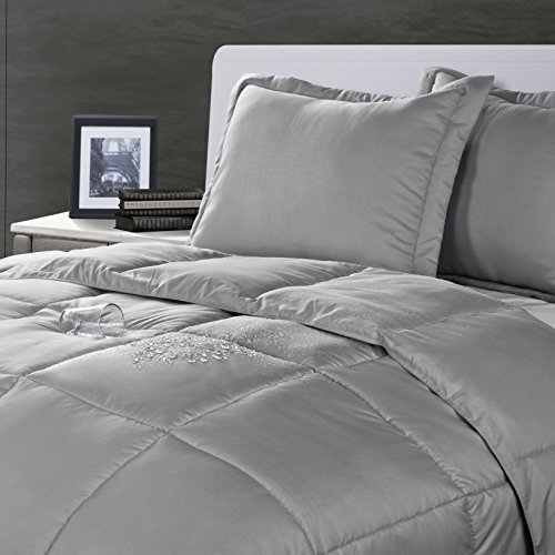 Lotus Home Water and Stain Resistant Comforter Mini Set, Ful