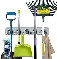 Mop Broom Holder, Home Wall Mounted Tool Organizer, Broom Hanger Rack Storage Organization for Kitchen, Garden