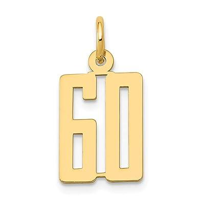 Fine Jewelry Lovely 14k Yellow Gold Small Polished Elongated 46 Charm Fine Charms & Charm Bracelets
