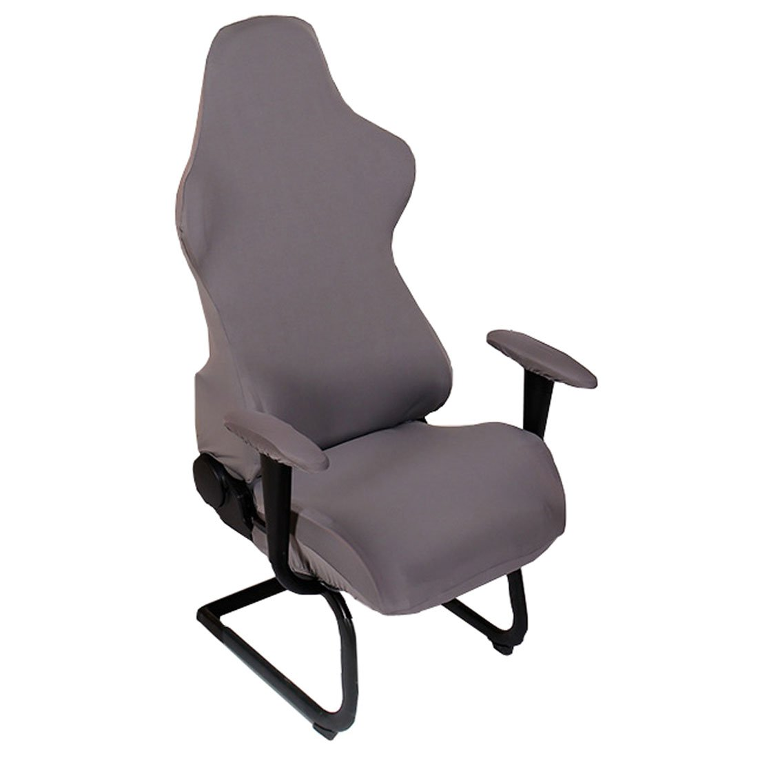 Office Computer Game Chair Cover Armchair Elastic Stretch Swivel Seat Gaming Chair Protector Slipcover (Gray)