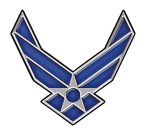 4 Pack US Air Force USAF United States Patriotic USA Military Emblem Auto Decal Bumper Sticker Vinyl Decal For Car Truck Van RV SUV Boat Fighter Jet Window Support USA - Auto Vinyl Car Truck Sticker