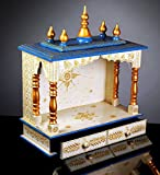 Rajasthan Art And Craft Wooden Home Temple / Pooja Mandir / Mandap With Hand Painting Work By Rajasthan Painting Work D-1