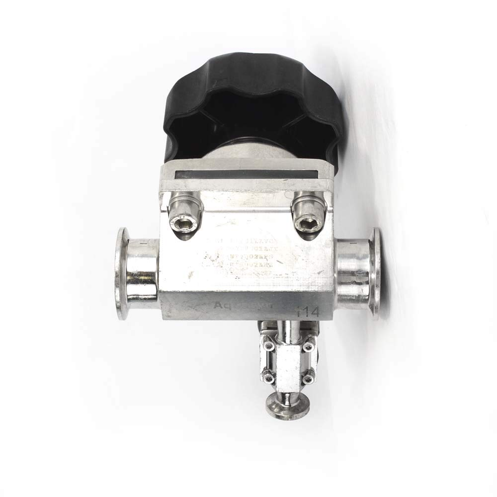 Aquasyn 1.5 316L Sanitary Access Diaphragm Valve w// .5 Second Valve TriClamp