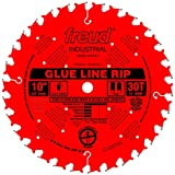 Freud LM74R010 10-Inch 30 Tooth TCG Glue Line Ripping Saw Blade with 5/8-Inch Arbor and PermaShield Coating