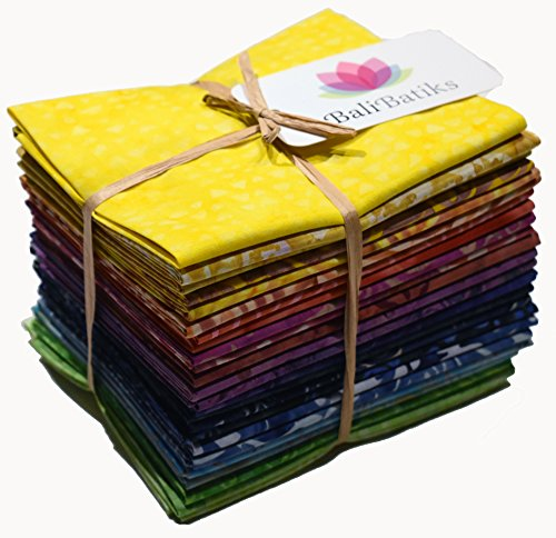 BaliBatiks Fat Quarter Bundles Rainbow 24 Fat Quarters CC204 Rainbow Batiks