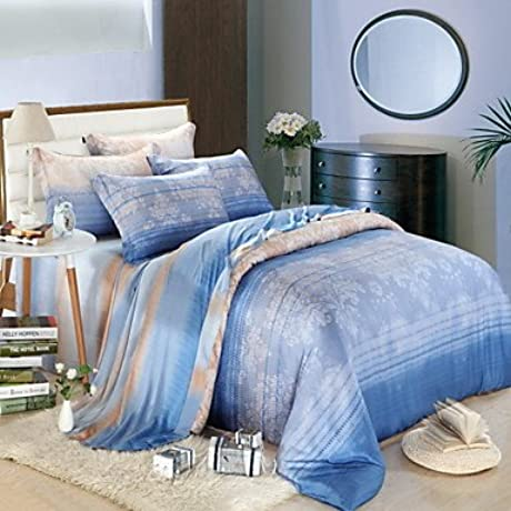 Naluo 100 Tencel Activity Four Piece Bedding Set Quilt Bed Linen Cover Quilt Duvet Cover Flat Sheet Pillowcase