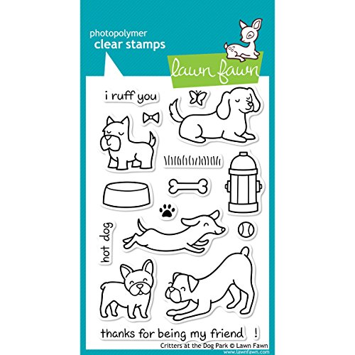 Lawn Fawn Clear Stamp - Critters At The Dog Park (LF515) (Stamps Fawn Acrylic Lawn)