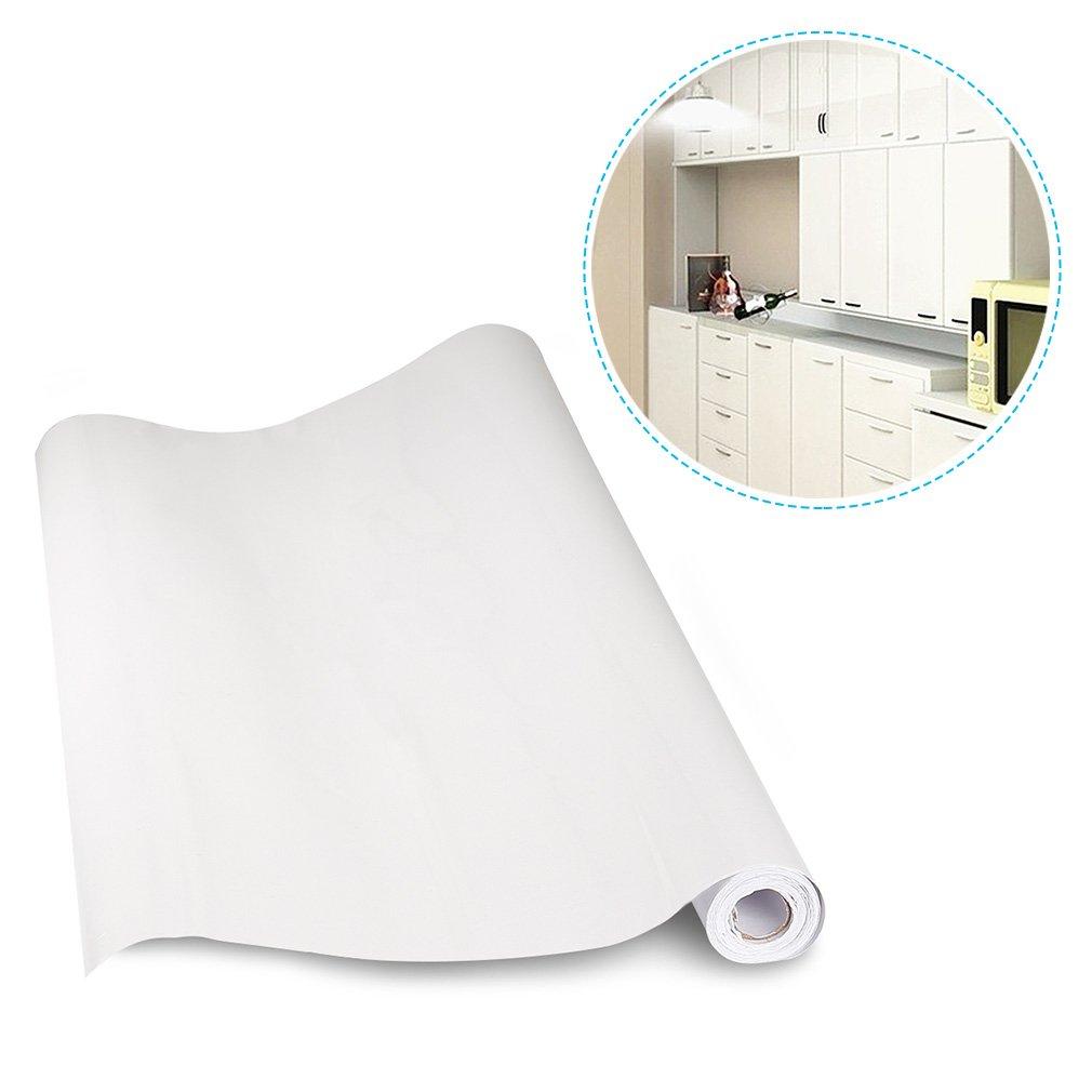 3 Stü HDM 5M  61 CM (LB) dicke dicke dicke PVC Weiß Klebefolie –Wasserabweisend selbstklebend DIY Dekofolie Möbel Renovierung Küchenschränke Möbelfolie Tapeten, Weiß mit glitzerpartikel auf Oberfläche cdf54d
